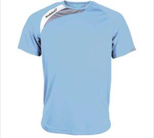 Camisola de jogo Colónia Azul celeste-branco