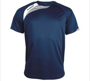 Camisola de jogo Colónia Azul marinho-branco