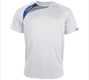 Camisola de jogo Colónia Branco-Azul
