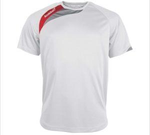 Camisola de jogo Colónia Branco-Vermelho